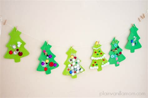 decorating foam christmas trees plain vanilla mom