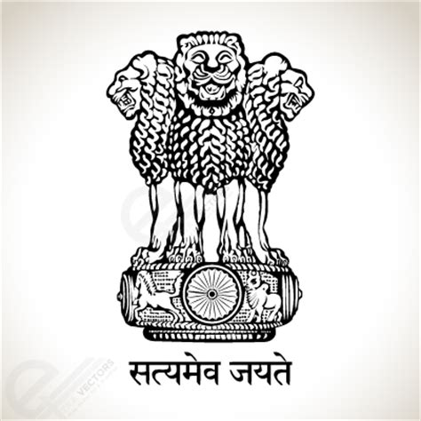 national emblem of india   satyamev jayate vector