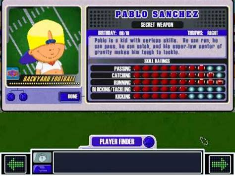 pablo sanchez backyard sports pablo sanchez theme backyard football 2002 youtube