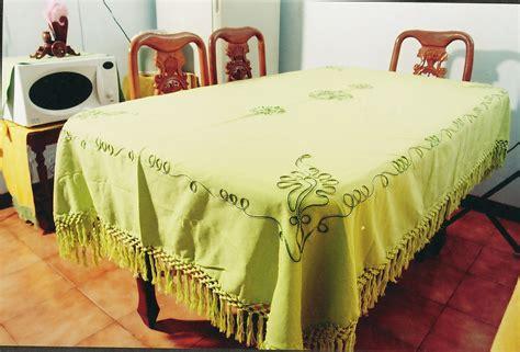 Taplak Meja Alas Meja Alas Makan Biru Daun taplak meja makan