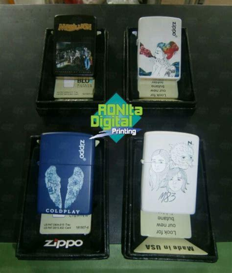 Zippo Custom Grafir Sablon Motor produk kreatif hasil printing ronita ronita digital printing