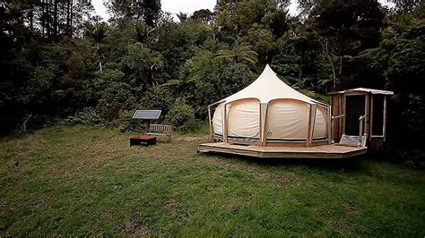 tent houses man escapes rent with belle tent while building tiny home