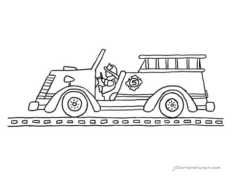 free fire truck coloring pages printable fire coloring