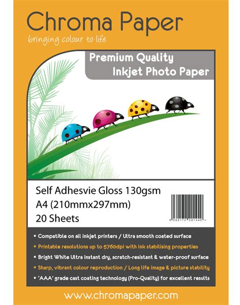 Coral Photo Paper A3 Glossy High Quality chroma premium a4 130gsm self adhesive high gloss photo paper 25 pack www cvbmedia co uk