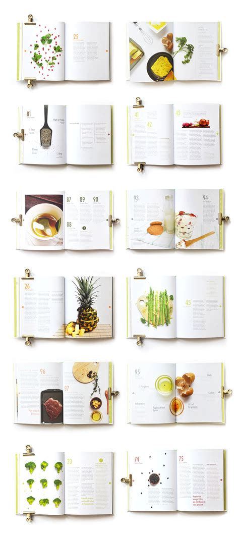 amazing layout design book superfood 101 on behance