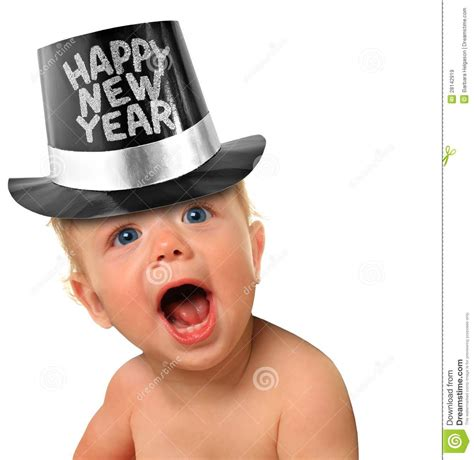 happy baby new year happy new year baby stock image image of child isolated