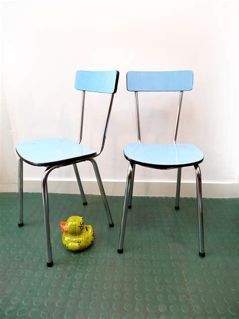 chaises formica 2 chaises en formica vintage brocnshop