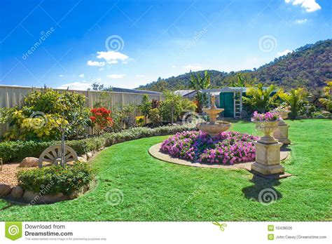 backyard gardens pictures landscaped gardens royalty free stock image image 10438026