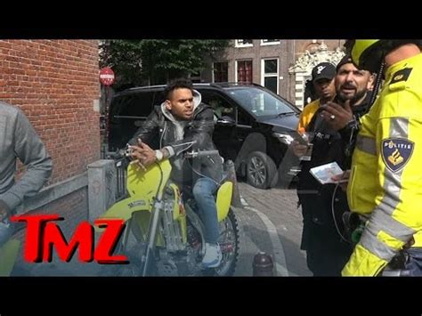 chris brown stoned and charming during traffic stop