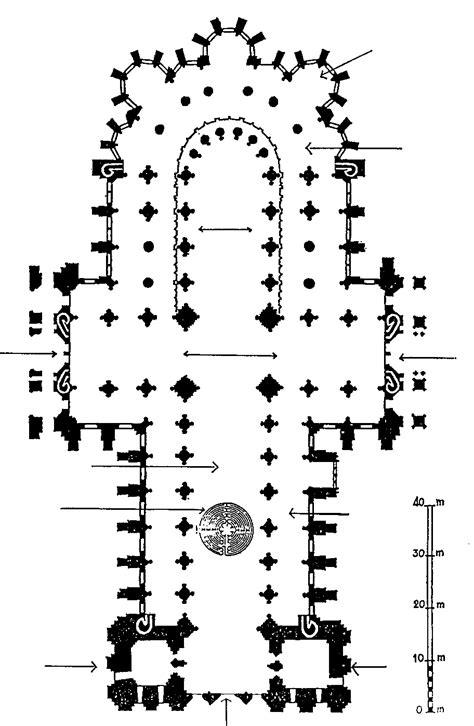 Plan de la cathédrale Notre-Dame de Chartres. La forme de