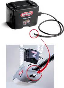 the genie garage door opener battery backup unit