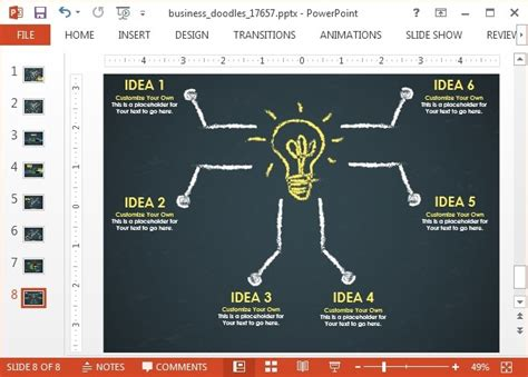 how to make doodle presentations animated doodle timeline powerpoint template
