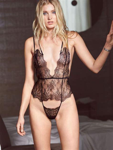 victoriau0027s secret models elsa hosk victoria see through lingerie more pictures