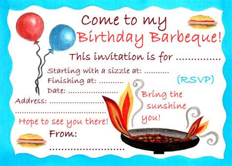 free printable birthday bbq invitations birthday barbeque invitation rooftop post printables