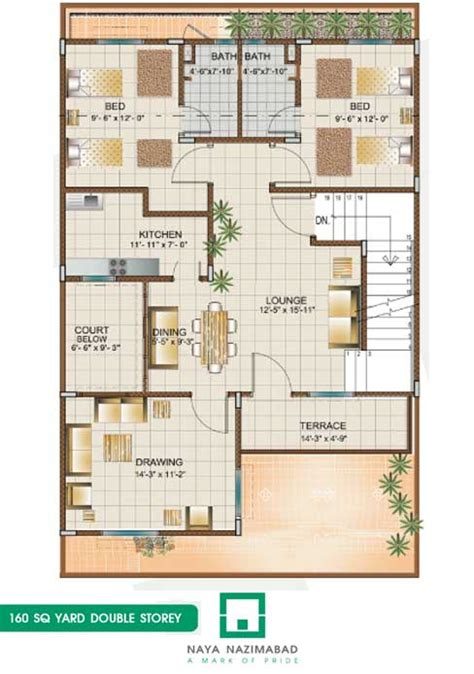 home maps design 400 square yard bungalow 160 sq yards double story first floor real