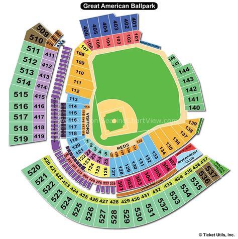 cincinnati reds seating chart with rows great american park cincinnati oh seating chart view