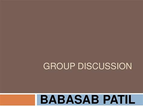 Mba Presentation Slides by Discussion Ppt Bec Bagalkot Mba
