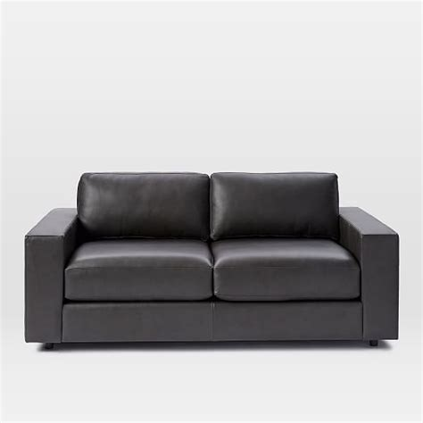urban sofas urban leather sofa west elm
