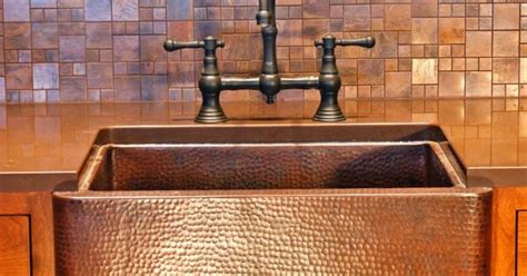 Farmhouse Sink Laminate Countertop by Decor Tips Copper Farmhouse Sink And Bridge Faucet With