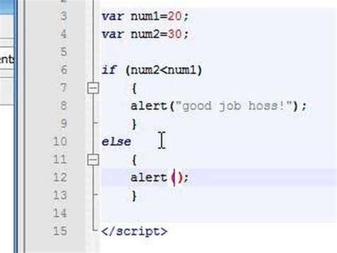 javascript tutorial interactive javascript tutorial 9 if else statement youtube