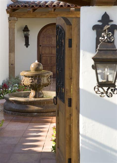 spanish courtyard designs hacienda courtyard with fountain would def add a pool