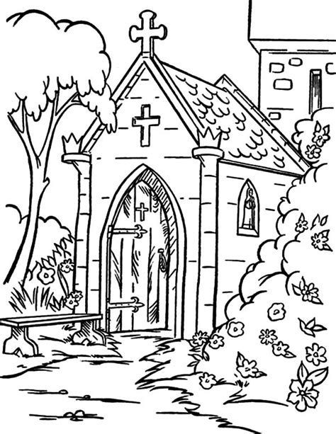 Beautiful The Best Christmas Pageant Ever Book Online #5: Church-Backyard-Coloring-Pages.jpg