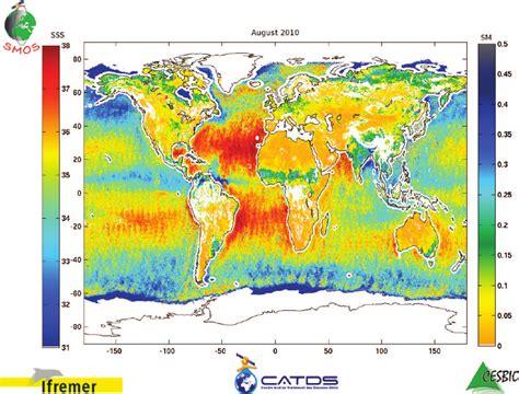 Termometer Abn figure 3 global sea surface salinity and soil moisture