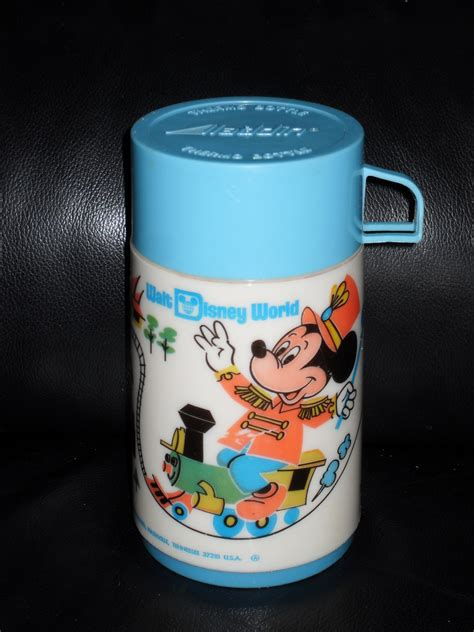 Thermos Disney vintage 1970s walt disney world metal lunchbox with thermos lunchboxes thermoses