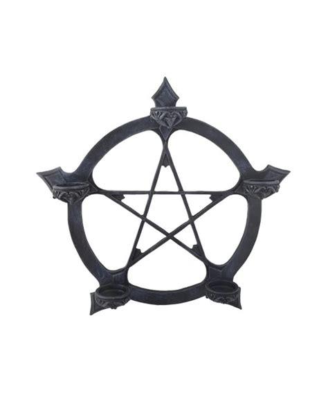 kerzen schwarz pentagram teelichthalter as wall decoration