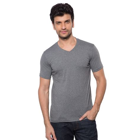 Melange Sleeve Shirt softwear mens anthra melange v neck half sleeve t shirt
