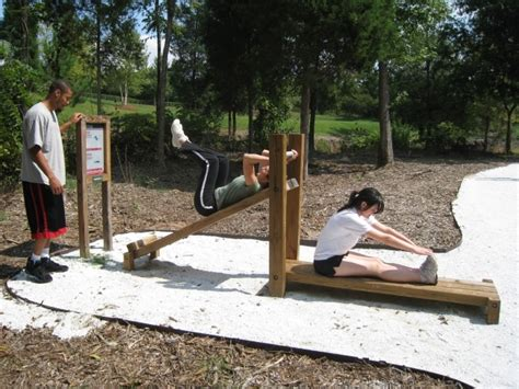 Backyard Fitness Equipment by Outdoor Exercise Stations Park Ideas Exercises And Outdoor