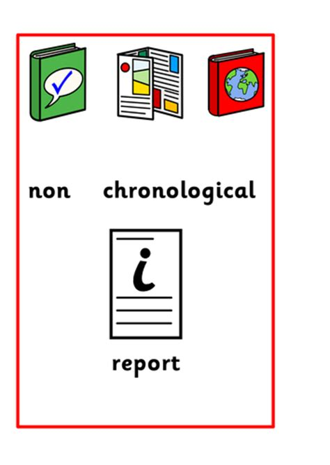 Non Chronological Report Writing Frame