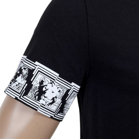versus versace border pattern t shirt shop for versace black t shirt with lion head sleeves