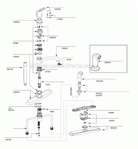 moen kitchen faucet parts diagram moen kitchen faucets parts diagram automotive parts diagram images