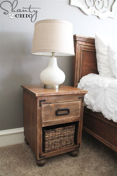 2 drawer nightstand diy diy nightstand with bun feet shanty2chic bloglovin