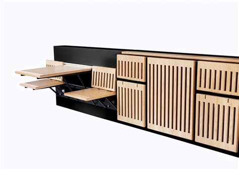 space saving seating innovation within benches automated space saving