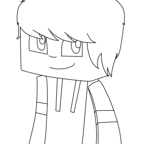 cartoon minecraft skin template sketch coloring page