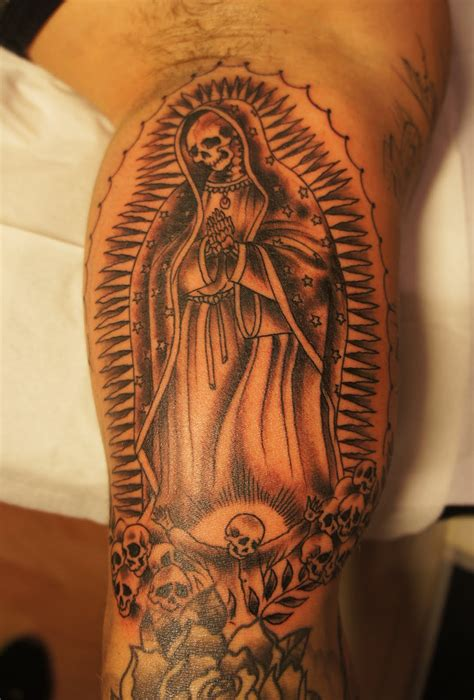 death tattoos portrayals of the santa muerte tattoo designs