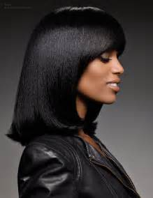 black hair for the long bob for smooth and straightened black hair