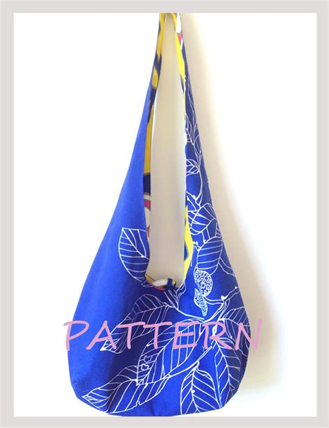 sewing pattern hobo bag hobo bag pattern reversible cross body bag sewing pattern