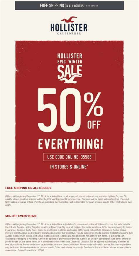 hollister printable vouchers uk hollister coupons 50 off everything at hollister or