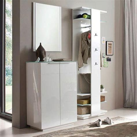 Design Furniture Canberra by Canberra Hallway Furniture Set 2 In White High Gloss And