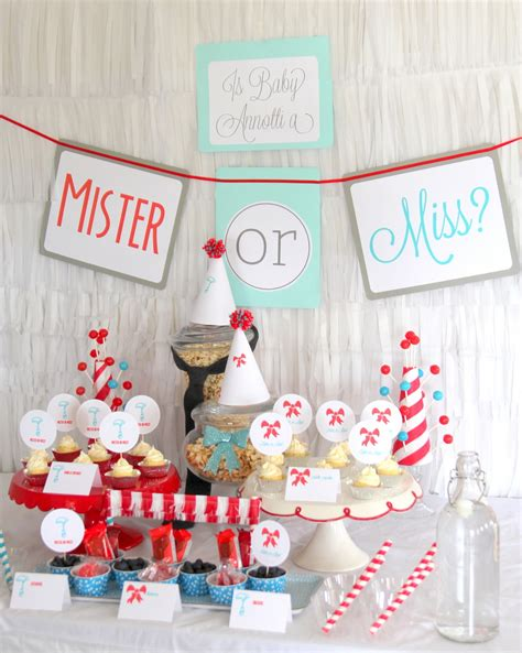baby shower for both sexes miss or mister gender reveal