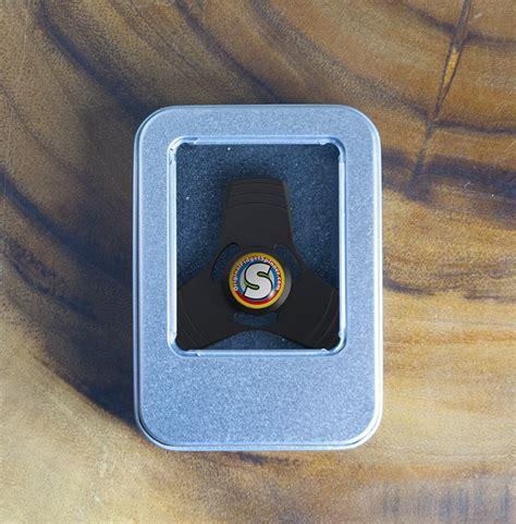Fidget Spinner Metal Spinner Black Premium Import Original black aluminium fidget trispinner mini the original