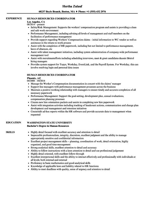 Hr Coordinator Resume by Human Resources Coordinator Resume Www Hooperswar