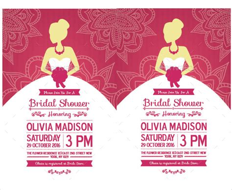 30 Best Bridal Shower Invitation Templates Sle Templates Wedding Shower Invitation Template