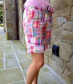 Womens Madras Patchwork Shorts - mad for madras on brothers plaid and