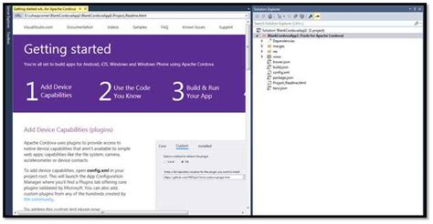 cordova tutorial android visual studio develop mobile app using visual studio 2015 apache