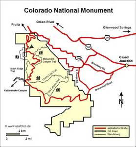 monument colorado map colorado national monument karte colorado national