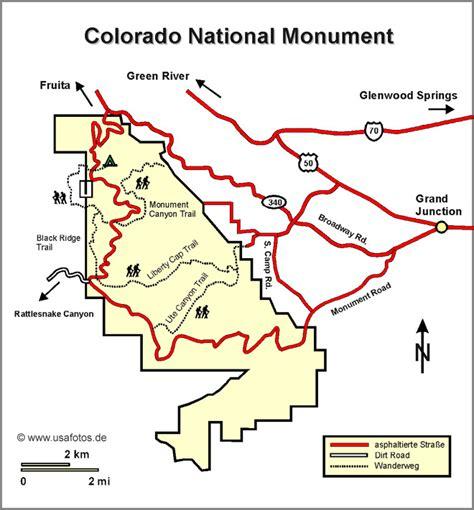 colorado national parks map colorado national monument karte colorado national